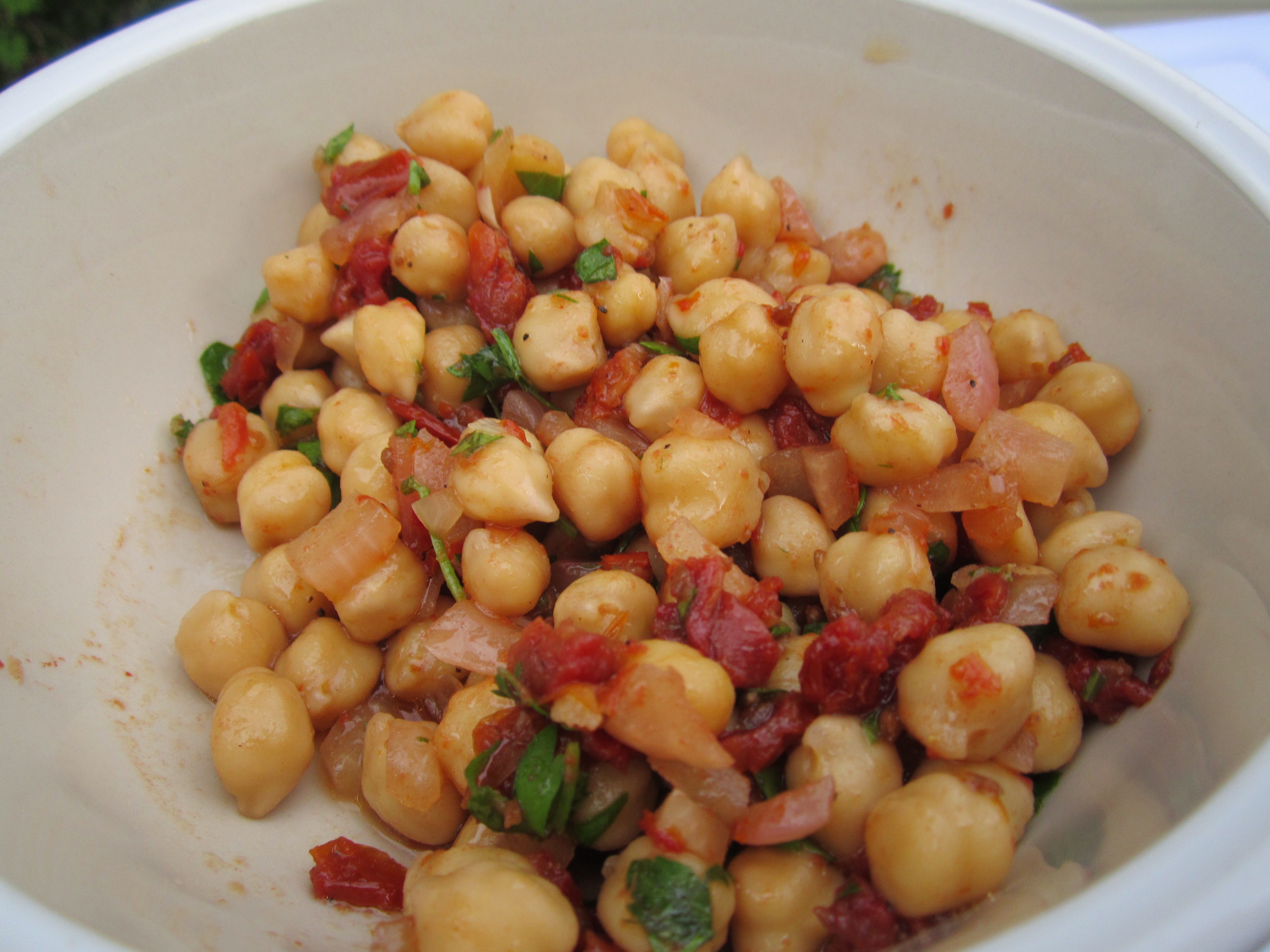 Casola Dining Room Recipe Tunisian Chickpea Salad Burnt My Fingers