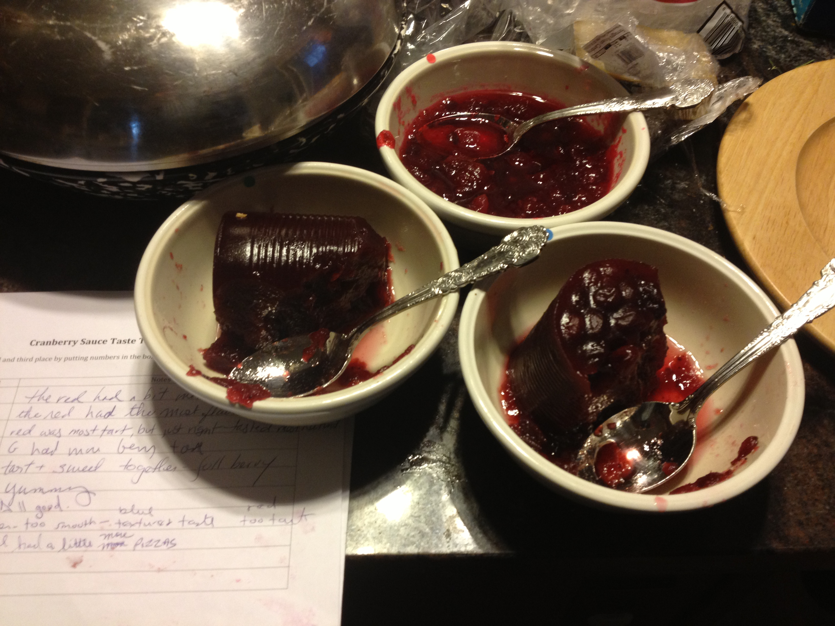 Taste Test Cranberry Sauce Burnt My Fingers